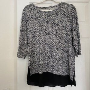 Apt 9 Black and Creme Top - Size PL